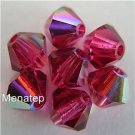 Swarovski 5301 Crystal Beads - 5mm Fuchsia AB (5)