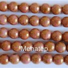 50 6mm Czech Glass Round Beads: Luster - Oraque Rose/Gold Topaz