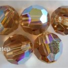 3 6mm Swarovski 5000 Crystal Rounds - Light ColoradoTopaz AB