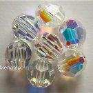 3 6mm Swarovski 5000 Crystal Rounds -- Crystal AB