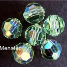 3 6mm Swarovski 5000 Crystal Rounds -- Chrisolite AB