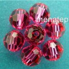 3 6mm Swarovski 5000 Crystal Rounds -- Fuschia