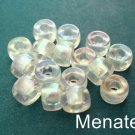25 5 x 9mm Czech Glass Roller/Crow Beads: Crystal AB