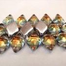 40 8 x 5 mm Czech Glass Gemduo Beads: Backlit - Tequila