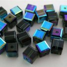 3 4 mm Swarovski 5601 Crystal Cubes -- Morion ABB