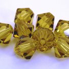 5 6mm Swarovski 5301 Crystal Bicones - Lime(Please read item description)