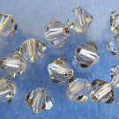 6 5mm Swarovski 5301 Crystal Bicones-Crystal Satin(Please Read Item Description)