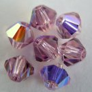 5 5mm Swarovski 5301 Crystal Bicones - Lt.Amethyst AB(Pls.Read Item Description)