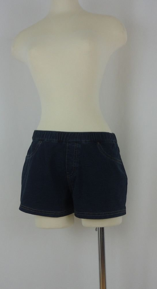 Hue Skinny Jeanz Shorts, U12885, BLUE DENIM, MEDIUM