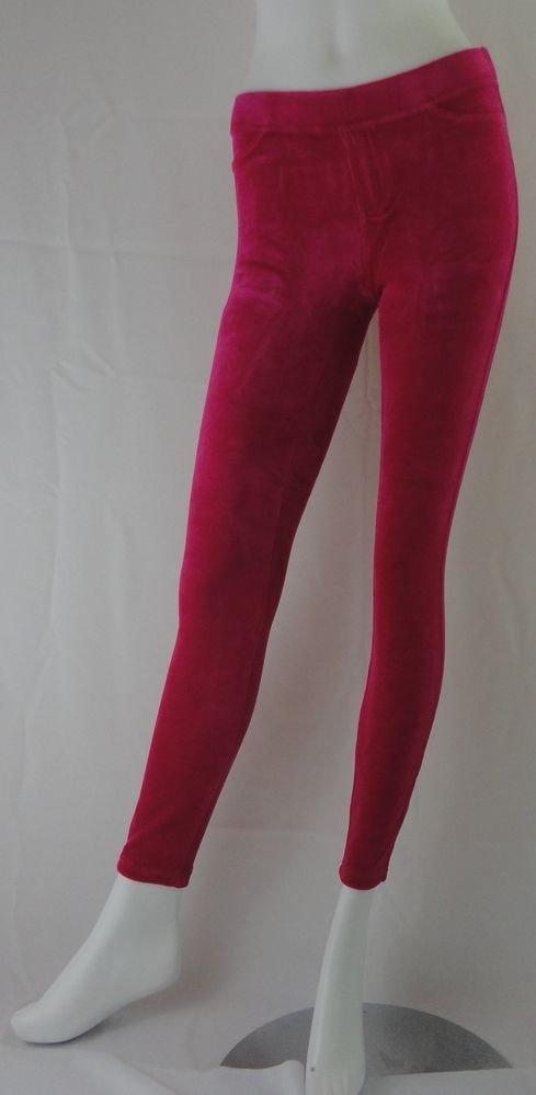 HUE Leggings, Cotton Velvet Leggings, PINK, SMALL