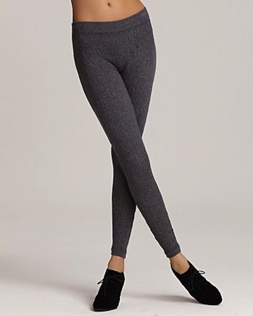 Lauren by Ralph Lauren Leggings Cotton Cable, DARK GRAY, SIZE A-B