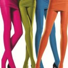 HUE Sheer to Waist Opaque Womens Tights, Nylon/Spandex, PUMPKIN ORANGE, MEDIUM