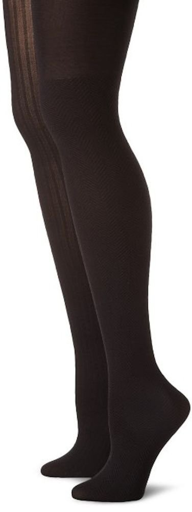 Calvin Klein Texture Tights, Nylon/Spandx, 2-PAIRS-MULTI-COLOR-SIZE B-C