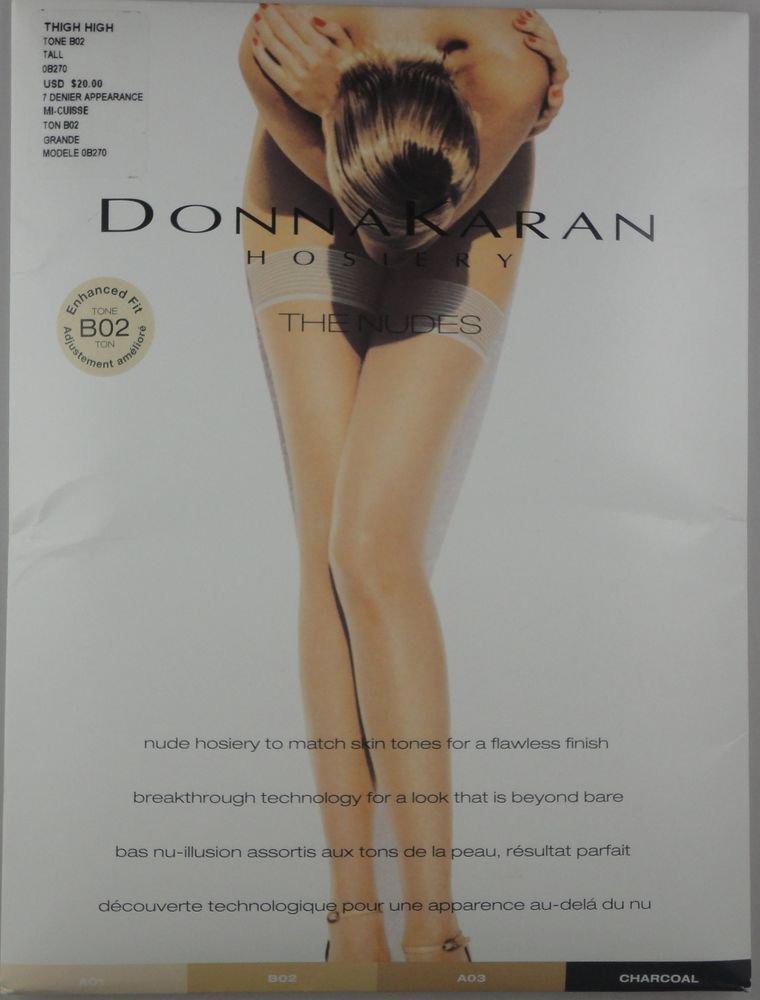 Donna Karan Enhanced Fit Tone Hosiery- Thigh Highs- OB0270- NUDE- TALL-LARGE