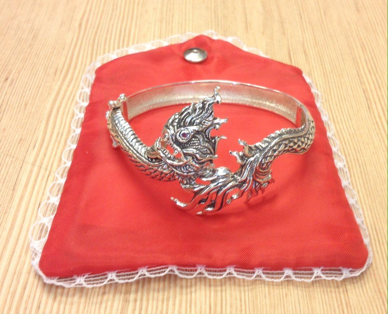 100% Thai Genuine Silver Bracelet 925 King of Nagas
