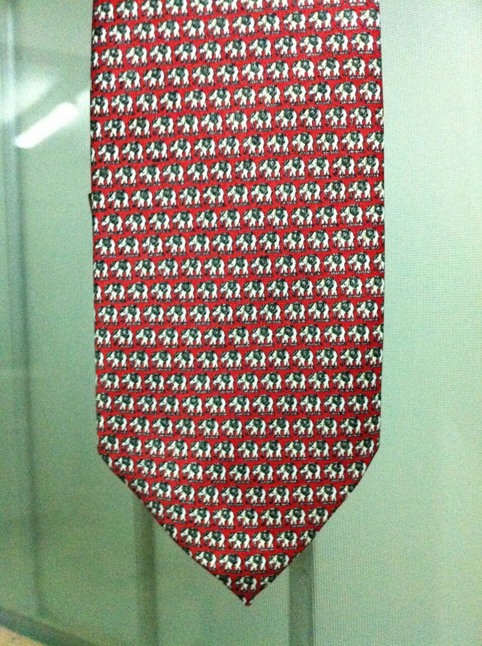 Men's Thai Classic Handmade Thai Red Elephants Fully Decorated Necktie LIMITED EDITION