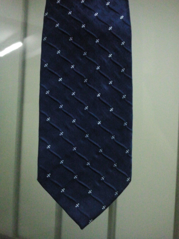 Men's Classic Thai Handmade Dark Blue Wave Necktie LIMITED EDITION