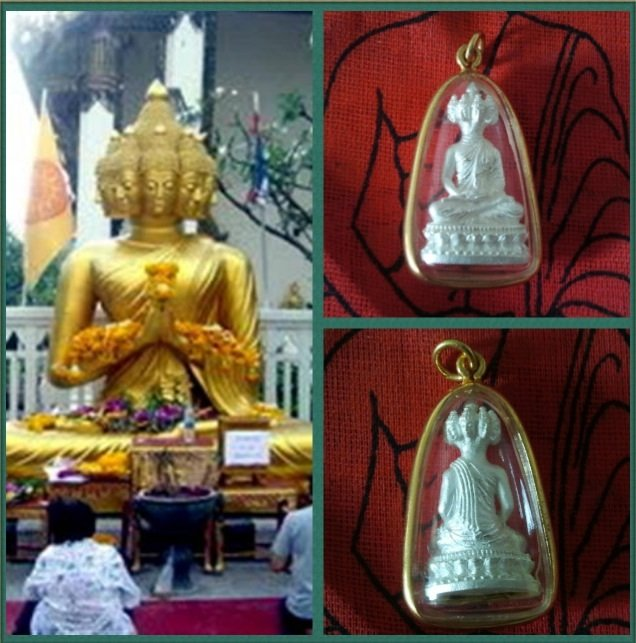 Nava Crore Millionaire Nine Faces Amulet Buddha Gold Plated Pendant
