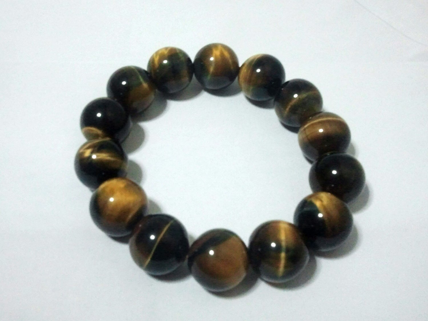 *Tiger's Eye Elastic beaded Bracelet (2 inch 14 pieces)