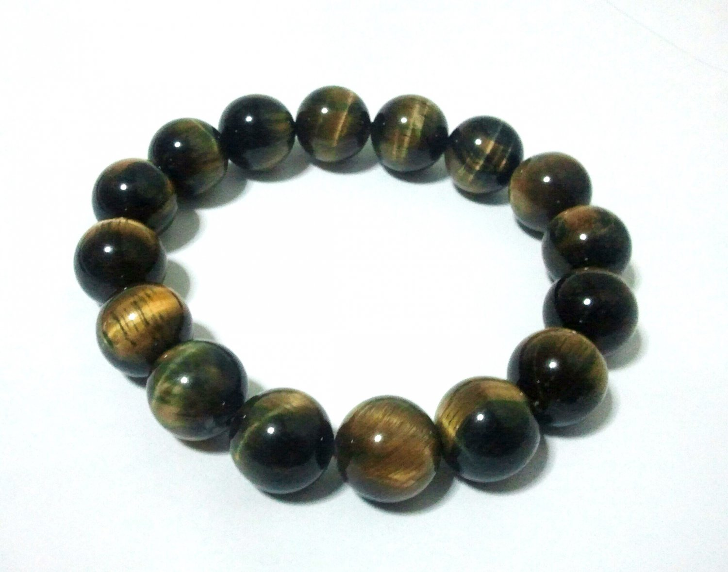 *Tiger's Eye Elastic beaded Bracelet (2 inch 16 pieces)