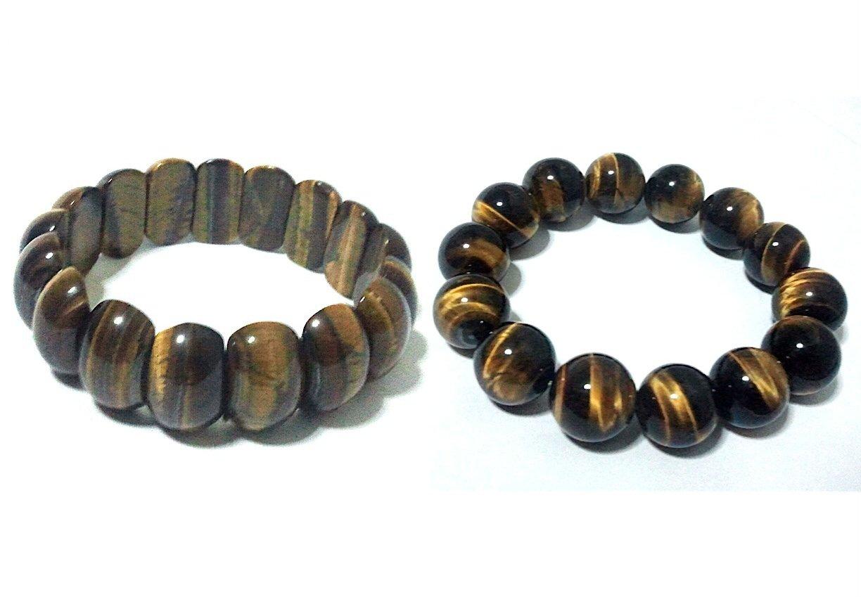 Double Lucky Elastic Beaded Bracelets