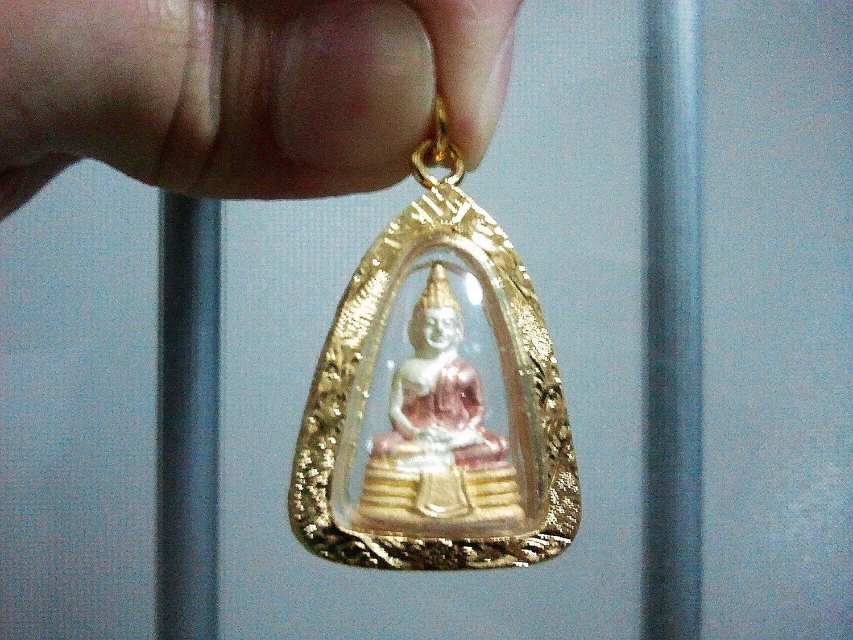 Thai Amulet Sothon Buddha Gold Plated Pendant (1543 edition)