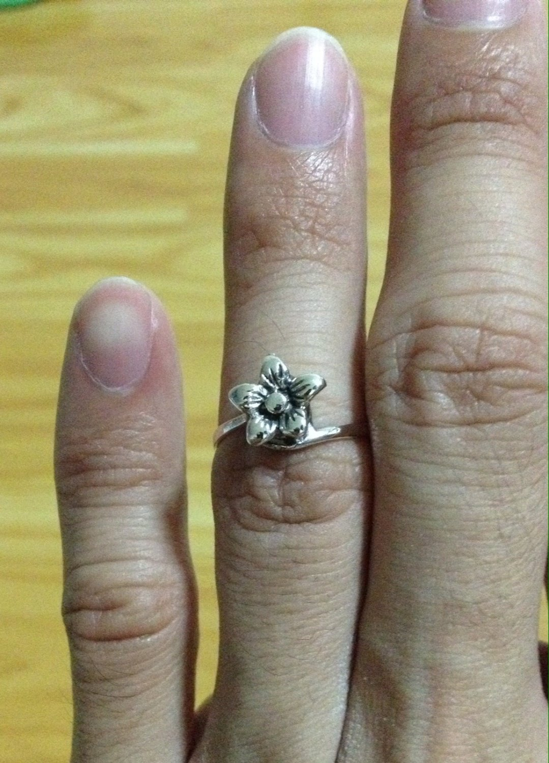 Lovely Delicate Tiny Flower Silver 925 Fashion Ring Limited Edition