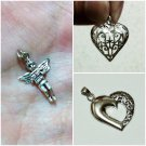 3 Silver 92.5% Sweet Hearts Valentine's Day Handmade Pendant