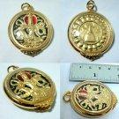 Good Luck Charm Talisman 'Jatukarm Ramathep' Gold Plated Pendant