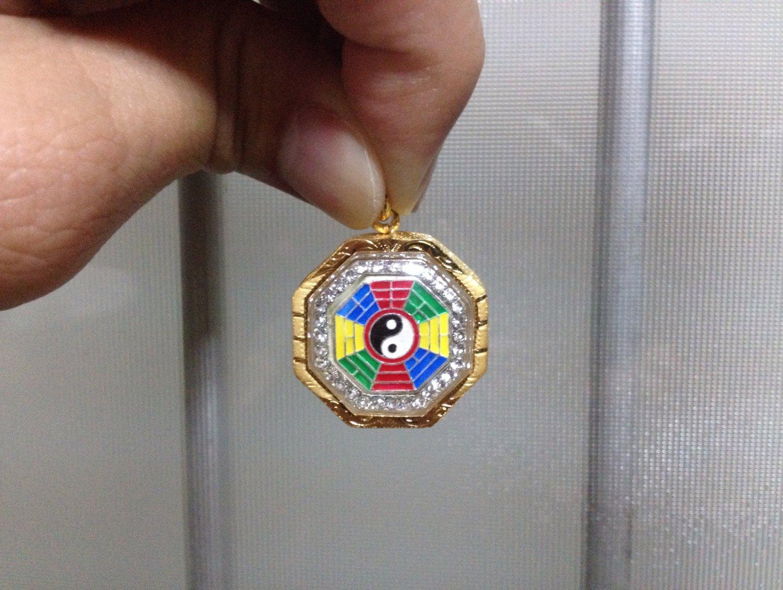 Lucky Chinese Yin Yang 3 Micron Gold Amulet Pendant