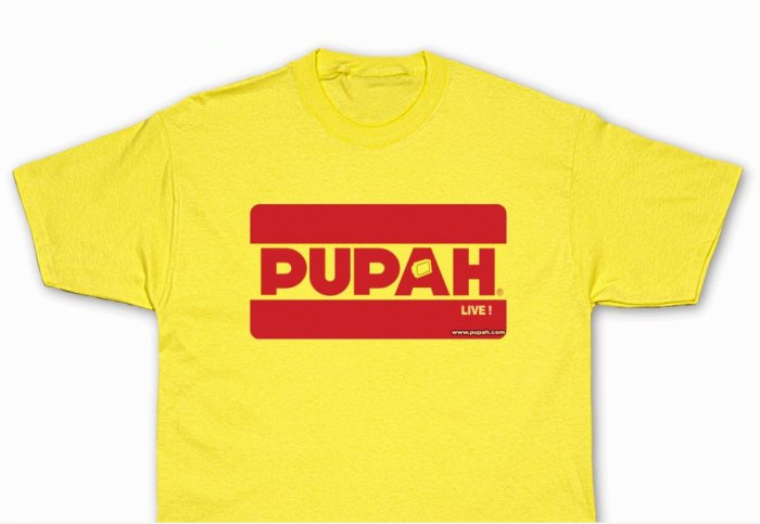 PUPAH LIVE !-Yellow T-Shirt- LIMITED EDITION