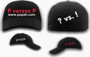 P verse P Black Fitted PUPAH Cap