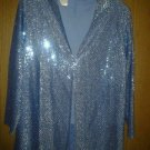 three flaggs sparkle evening jacket , blouse blazer v pretty 4women size large