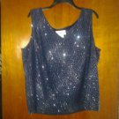 Dana .kay. Chiffion with. Line strech blouse beautiful top for eveing size 20 W