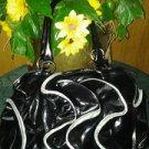 Fashion handbag v pretty for women large purse leather