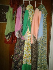 Abaya or esdal v esy to wear no scarf no pins free size fit 2X to 4X 100% cotton