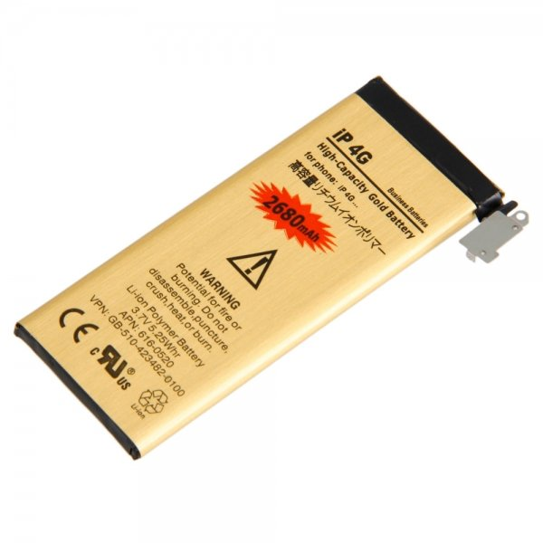 2680 mAh Gold Apple Iphone 4 High Capacity Battery Replacement