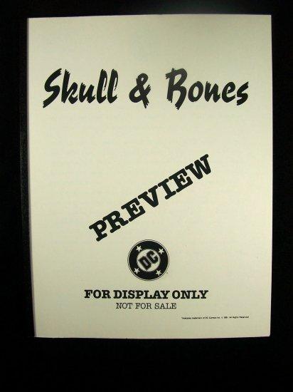 D.C. Comics Black & White Proof Preview Skull & Bones 1991