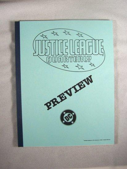 D.C. Comics Black & White Proof Preview Justice League Quarterly