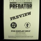 D.C. Comics Black & White Proof Preview  Batman vs Predator 1991