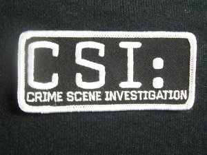CSI: TV Series Name Logo Embroidered Patch