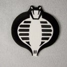 G.I. Joe Cobra Black & White Logo Embroidered Patch