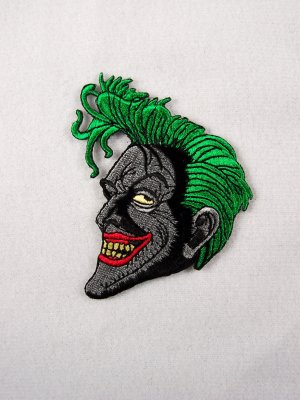 Batman Animated TV Show Joker Smiling Face Patch