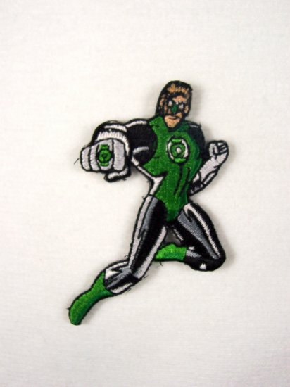 D.C. Comics Green Lantern Figure Embroidered Patch