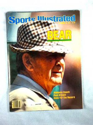 Sports Illustrated Nov. 23, 1981 Bear Bryant Cover