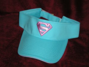 Superman/Supergirl Blue & Pink Visor/Hat - NEW