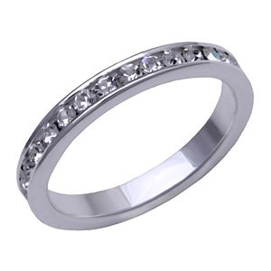 Sterling Silver Eternity Ring - Size 6