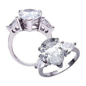 Sterling Silver Jessica Simpson Replica Ring ~ Size 7