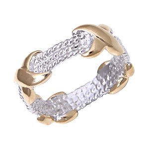 Two Tone Rope Band ~ Size 7