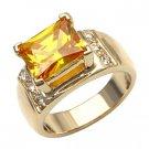Citrine & CZ Diamond Ring ~ Size 5